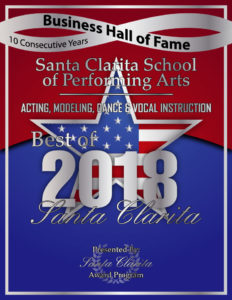 Voted Best Acting, Modeling, Dance and Vocal Instruction 2018